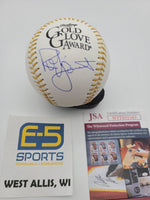 Robin Yount Brewers Signed Autographed Gold Glove Baseball JSA