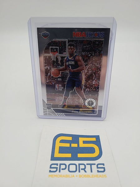 Zion Williamson Pelicans Hoops Premium Rookie Base Card #258