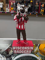 "IN STOCK NOW! E-5 Sports Exclusive!  Bucky Badger ""W"" 12 Inch Mascot Statue Wisconsin Badgers"