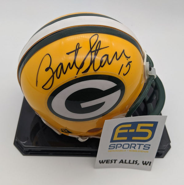 Bart Starr Ray Nitschke Packers Dual Signed Autographed Mini Helmet Beckett