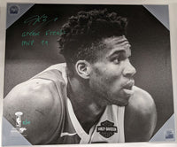 Giannis Antetokounmpo Milwaukee Bucks Signed Autographed 20x24 Canvas LE of 10