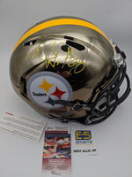 TJ Watt Pittsburgh Steelers Signed Autographed Full Size Replica Chrome Helmet