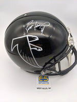 Brett Favre Falcons Signed Autographed Full Size Authentic Throwback Helmet