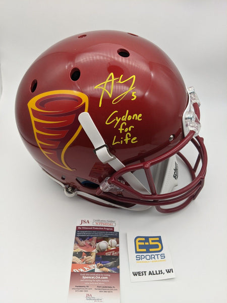 Allen Lazard Cyclones Signed Autographed Full Size Speed Replica Helmet JSA