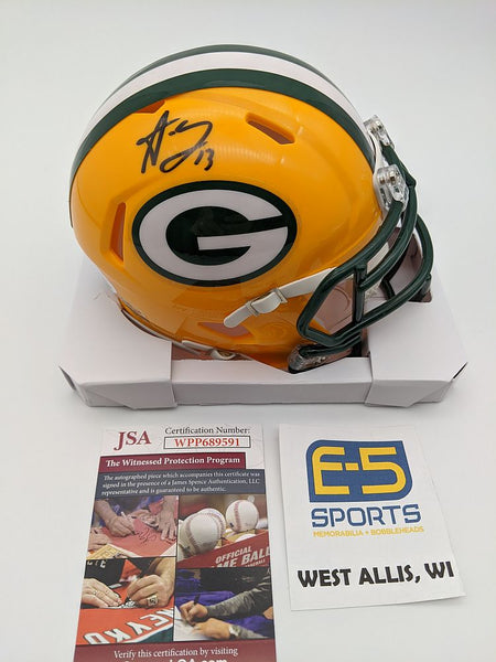Allen Lazard Packers Signed Autographed Mini Speed Helmet JSA