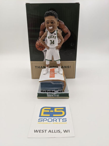 Giannis Antetokounmpo Fiserv SGA Bobblehead w Original Box and Packaging