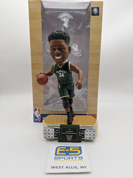Giannis Antetokounmpo Bucks Lights Bobblehead OG Box and Packaging