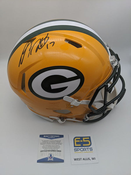 Davante Adams Green Bay Packers Signed Autographed Authentic Speed Helmet BECKETT