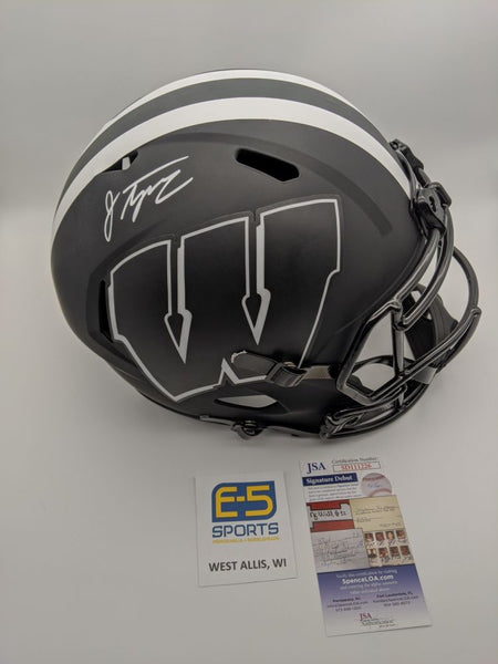 Jonathan Taylor Badgers Signed Autographed FS Speed Eclipse Replica Helmet JSA