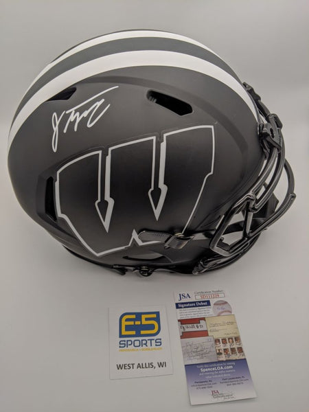 Jonathan Taylor Badgers Signed Autographed FS Speed Eclipse Authentic Helmet JSA