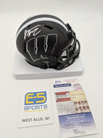 Jonathan Taylor Badgers Signed Autographed Mini Speed Eclipse Replica Helmet JSA