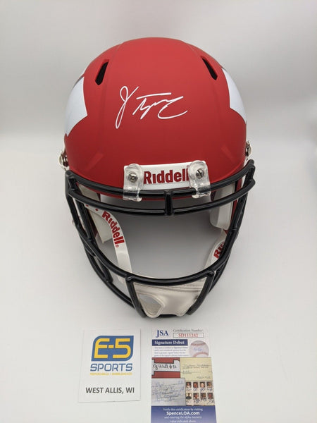 Jonathan Taylor Badgers Signed Autographed Full Size AMP Replica Helmet JSA