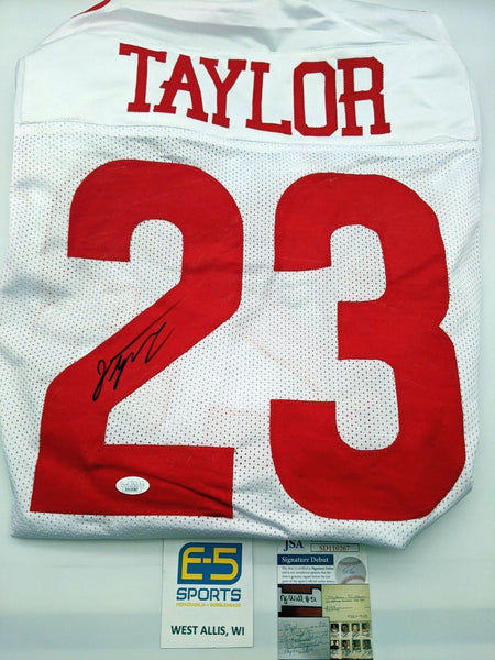 Jonathan Taylor Badgers Signed Autographed White Custom Jersey JSA