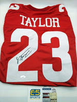 Jonathan Taylor Badgers Signed Autographed Red Custom Jersey JSA