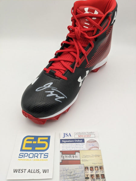 Jonathan Taylor Badgers Signed Autographed Under Armour Black Cleat JSA