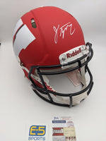 Jonathan Taylor Badgers Signed Autographed Full Size AMP Authentic Helmet JSA