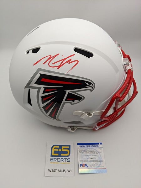 Michael Vick Falcons Signed Autographed Full Size Replica Flat White Helmet