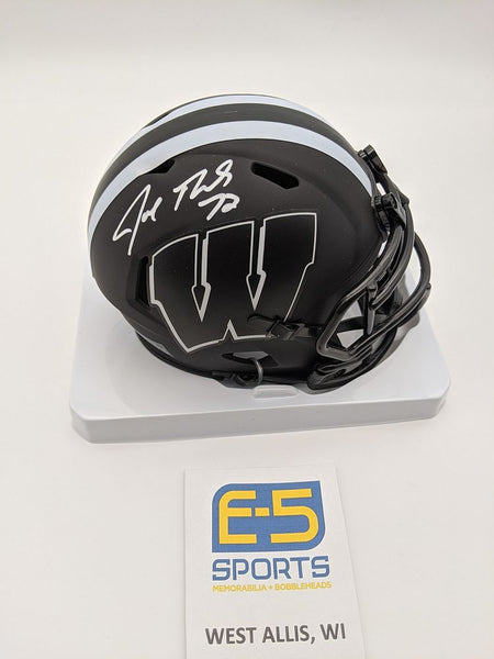 Joe Thomas Badgers Signed Autographed Mini Eclipse Speed Helmet JSA