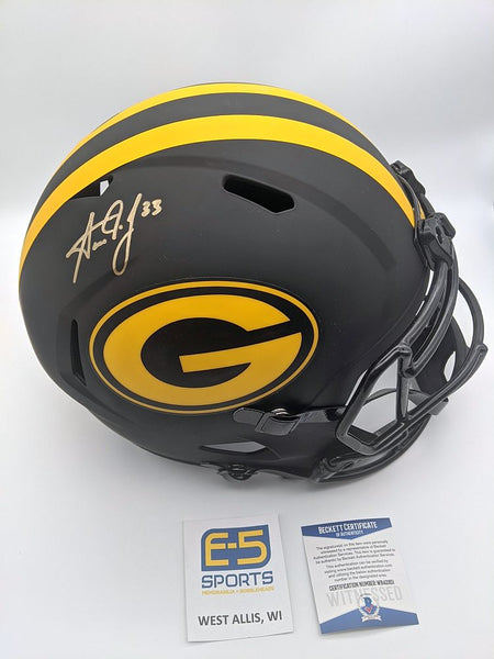 Aaron Jones Packers Signed Autographed Full Size Replica Eclipse Helmet JSA