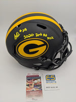 AJ Dillon Packers Signed Autographed Full Size Eclipse Speed Replica Helmet JSA