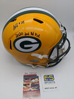 AJ Dillon Packers Signed Autographed Full Size Speed Replica Helmet JSA