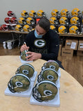 David Bakhtiari Packers Signed Autographed Mini CAMO Helmet Salute to Service