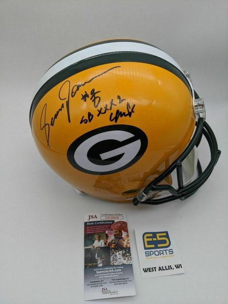 Sean Jones Packers Signed Autographed Full Size Replica Helmet SB 31 Champs JSA