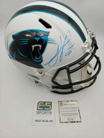 Julius Peppers Panthers Signed Autographed Full Size Replica Flat White Helmet