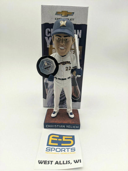 2019 Christian Yelich MVP Brewers SGA Bobblehead w Original Box and Packaging