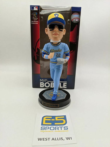 Christian Yelich Brewers MVP Bobblehead w Original Box and Packaging LE OF 360