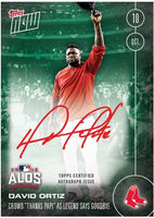 ON-CARD AUTOGRAPH GREEN MONSTER EDITION DAVID ORTIZ BIDS FAREWELL TO FENWAY /199
