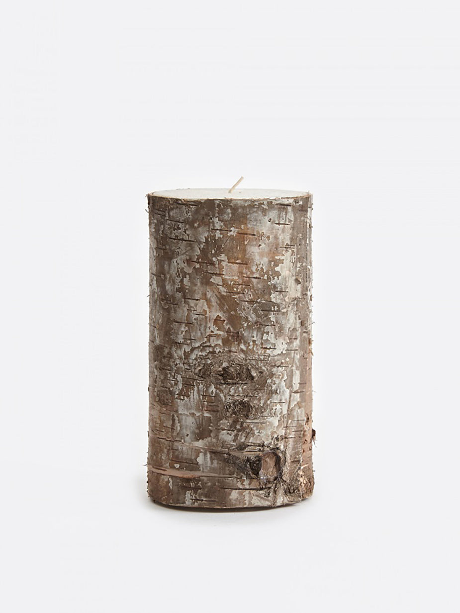 Broste Broste Candle With Birch Bark 7.5x15cm