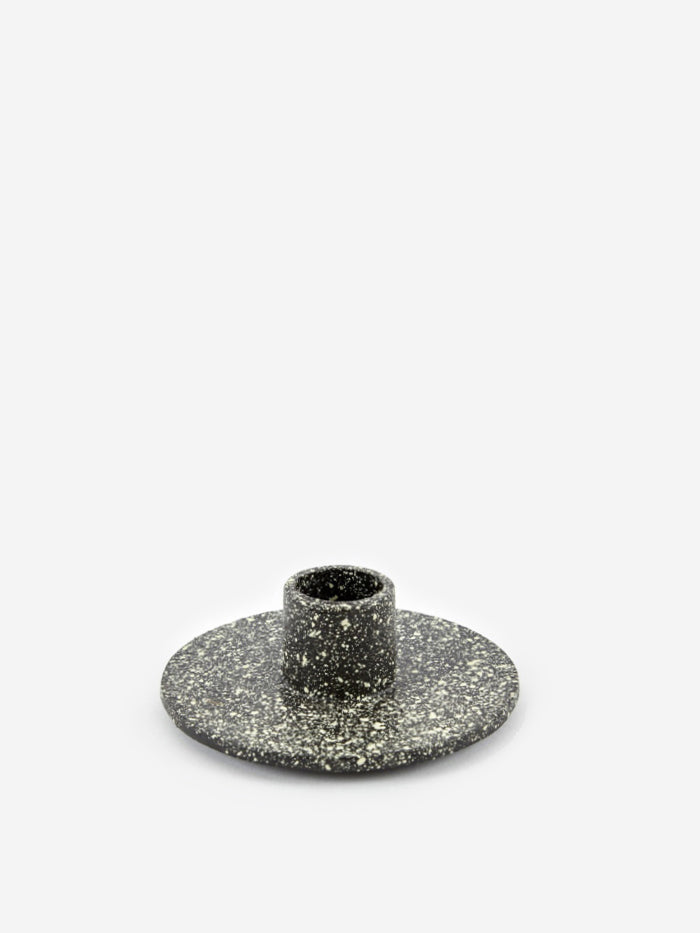 Ferm Living Ferm Living Cast Iron Candle Holder - Spotted - Black