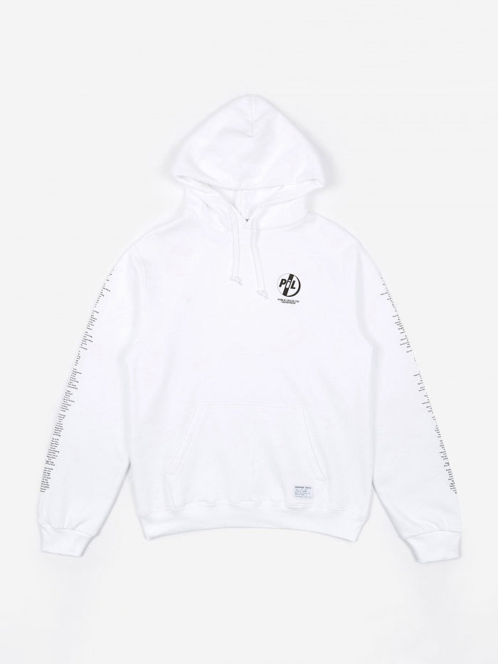 Goods By Goodhood Goodhood x Public Image Ltd Tracklist Hoodie - White - White