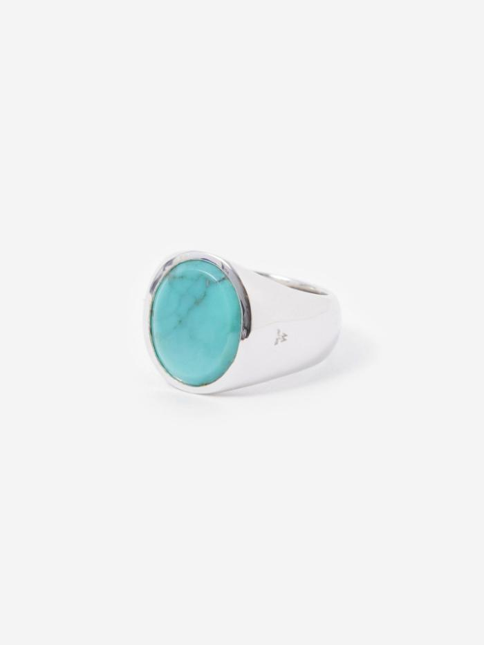 Tom Wood Tom Wood Oval Ring - Turquoise - Blue