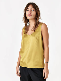 6397 Silk Tank Top - Gold
