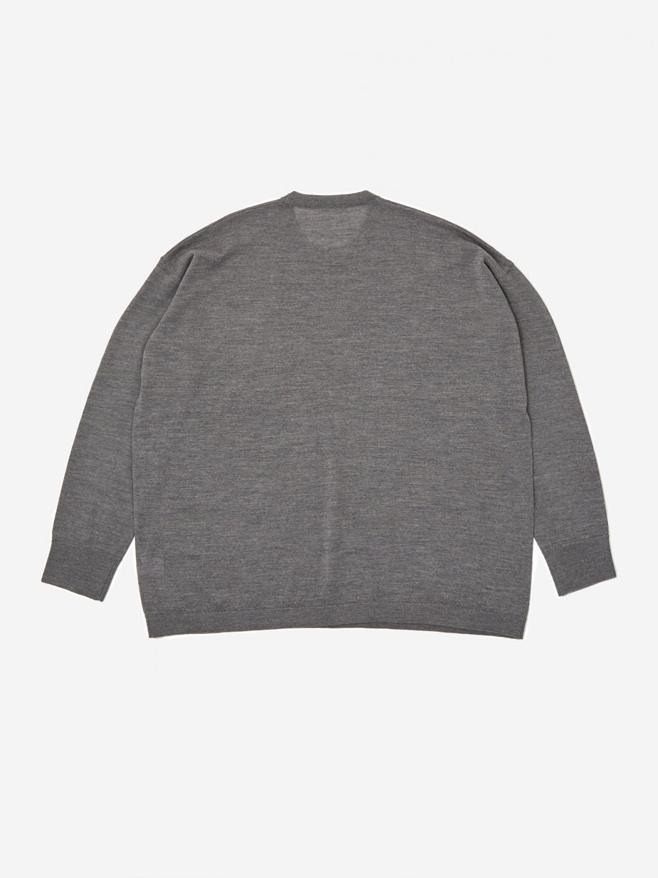 6397 6397 Slouchy Crewneck Sweatshirt - Heather Grey - Grey