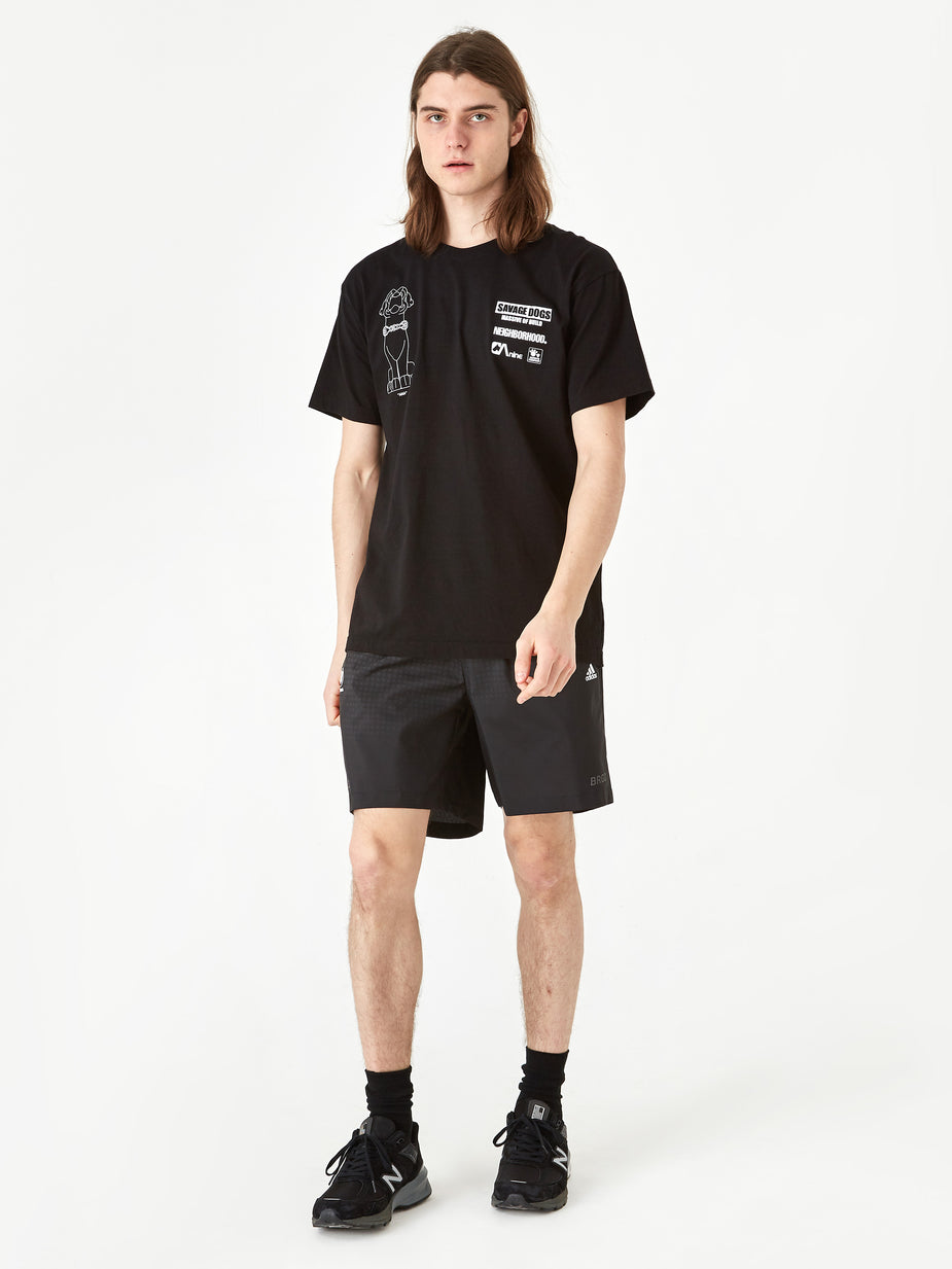Adidas Adidas x Neighborhood Run Shorts - Black - Black
