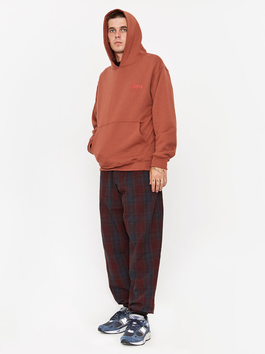 Affix Affix Standardised Logo Hoodie - Umber - Orange