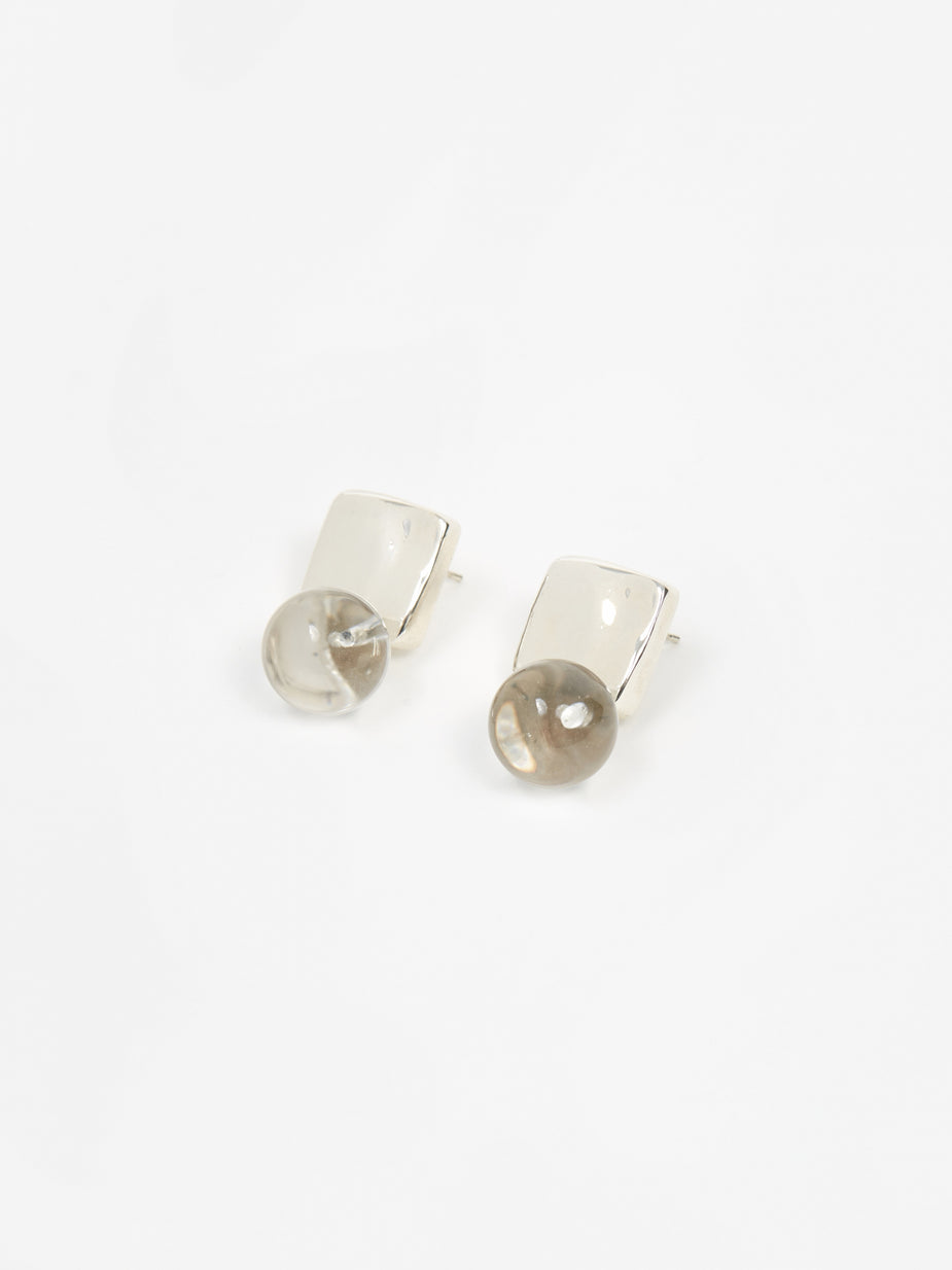 AGMES AGMES Luca Earrings Quartz - Sterling Silver - Silver