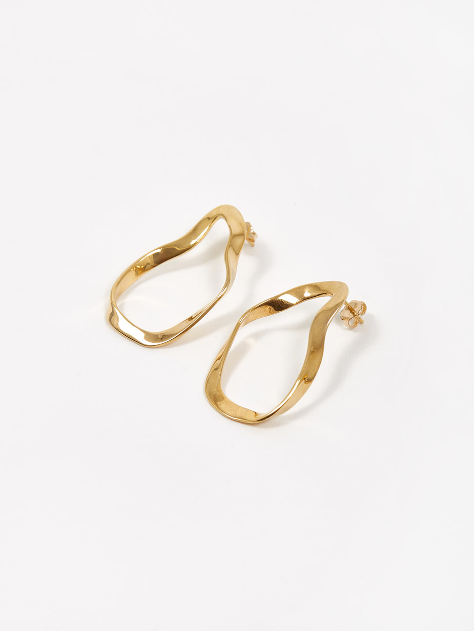 AGMES AGMES Small Vera Earrings - Gold - Gold