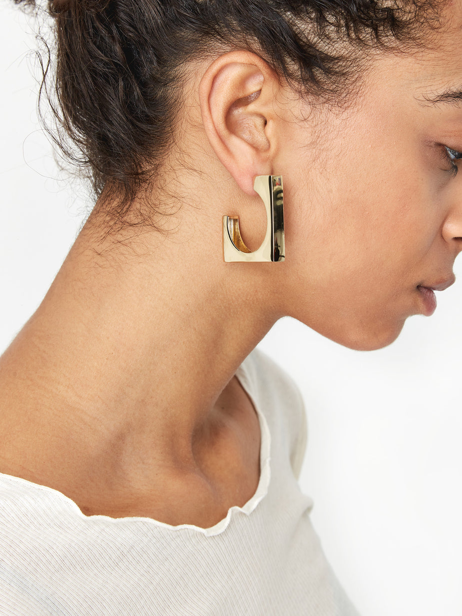 AGMES AGMES Large Isa Earrings - Gold - Gold