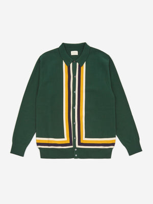 Aime Leon Dore Polo Cardigan - Evergreen