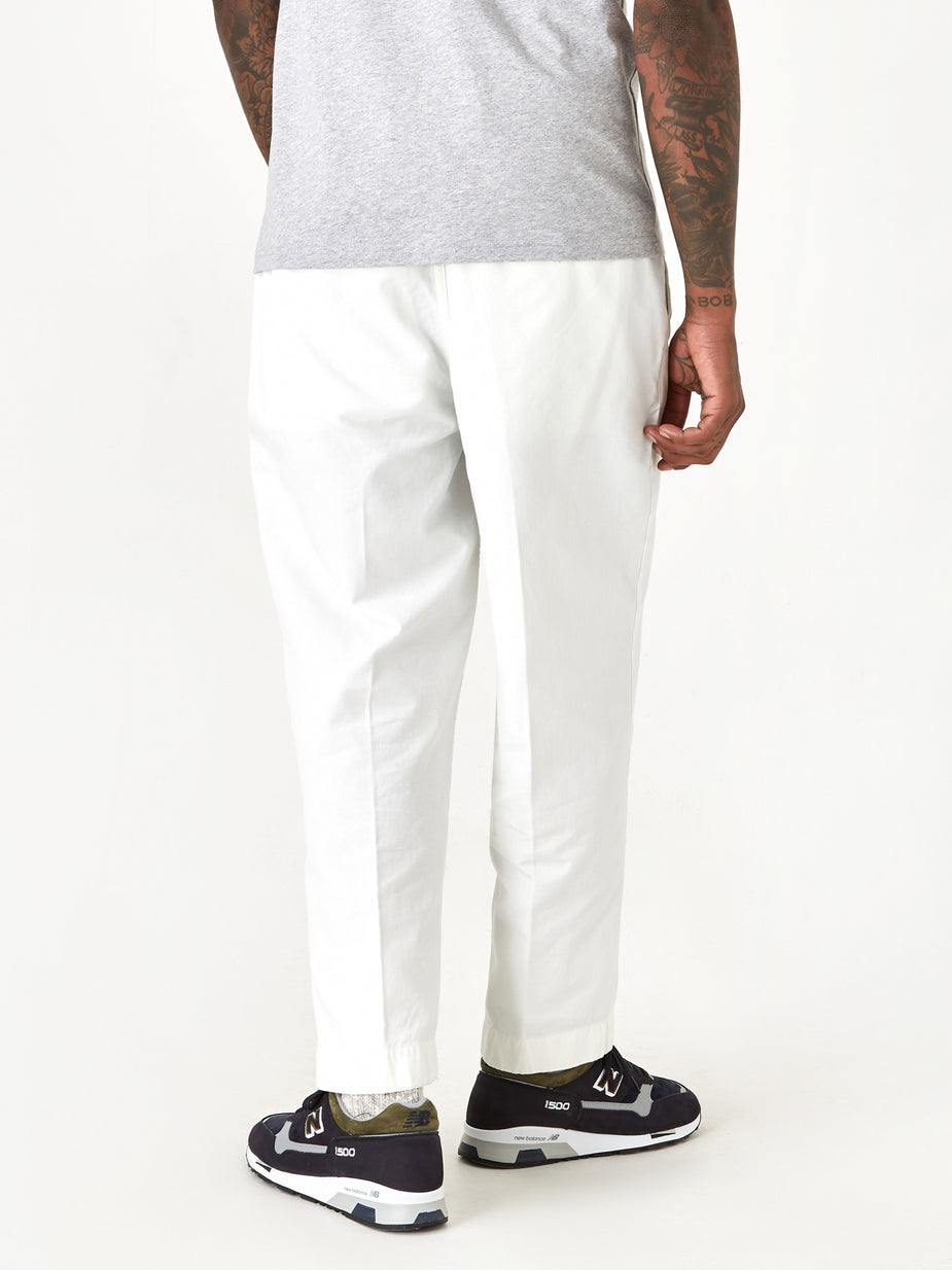 Albam Albam GD Ripstop Pleated Trouser - Ecru - Neutrals