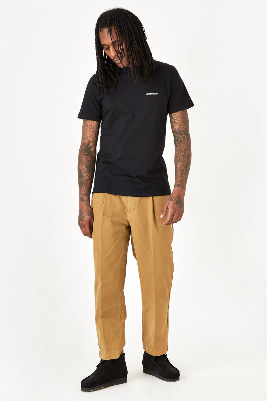 Albam Albam GD Ripstop Pleated Trouser - Tobacco - Brown