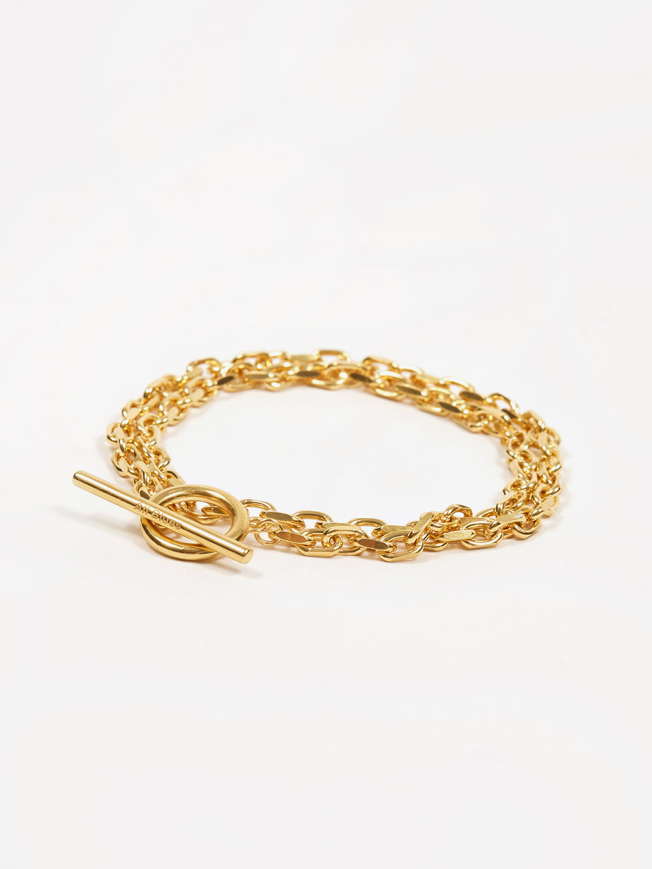 All Blues All Blues Anchor Bracelet - Gold - Gold
