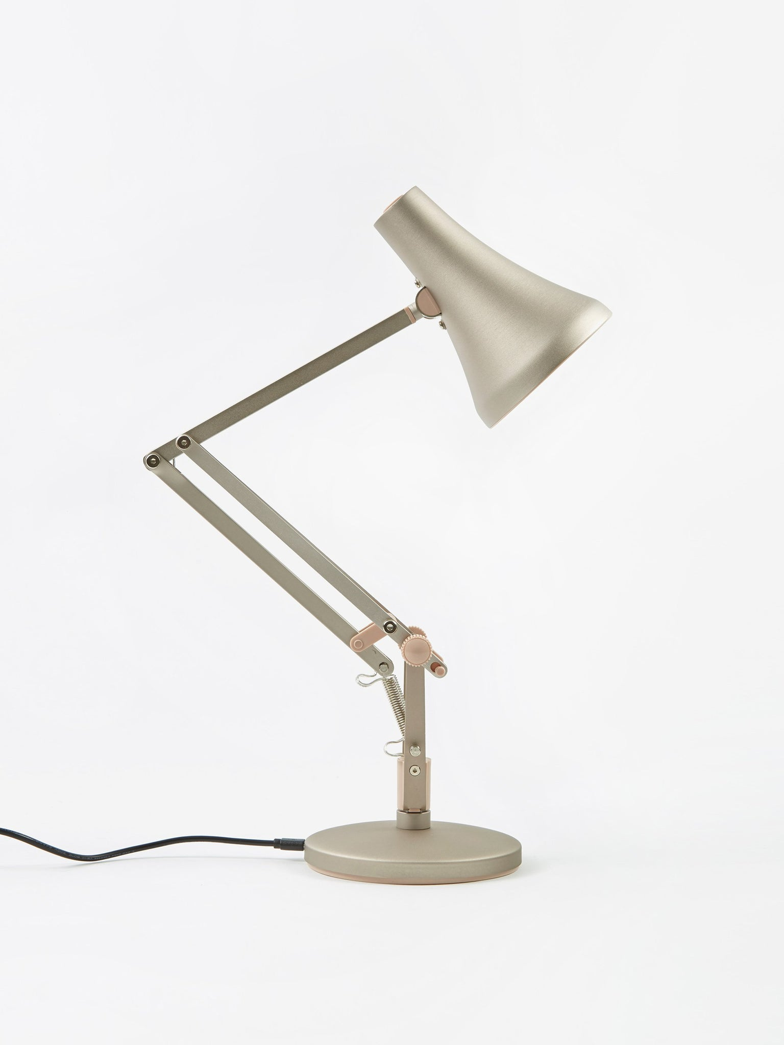 Anglepoise 90 Mini Mini LED Desk Lamp - Warm Silver & Blush