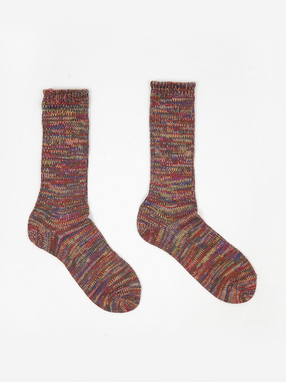 Anonymous Ism Anonymous Ism 5 Colour Mix Crew Socks - Lavender - Multi