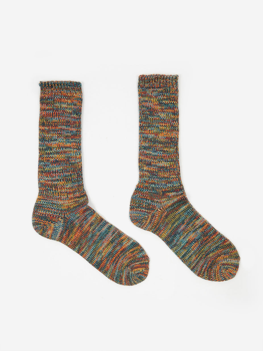Anonymous Ism Anonymous Ism 5 Colour Mix Crew Socks - Mist - Multi