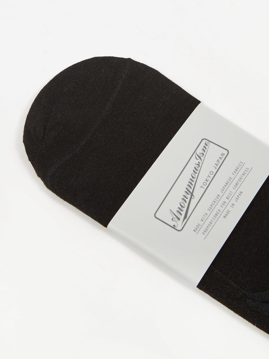 Anonymous Ism Anonymous Ism Cordura High Gage Loafer Sock - Black - Black